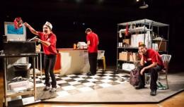 Casandre Elyse Medel, Ian Weber, & Michael Mayes in Edgewise. Photo-Theatre[502].