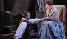 Patrick O'Halloran as Rodolpho and Corinne Winters as Mimi in La Boheme. Photo by Patrick Pfister