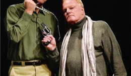 Brian Bowman as Clifford and David Myers as Sidney in Deathtrap. Photo-Derby Dinner Playhouse.