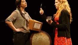 Leah Michelle Roberts and Erica McClure in Auctioning the Ainsleys. Photo- Theatre [502]