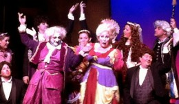 "Monty Fields and Glenna Godsey as the Thenardiers in ""Les Miserables."" Photo-CenterStage."