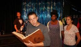 Scott Anthony, Douglas Scott Sorensen, Alexandra Sweatt & Becca Willenbrink in The Stranger and Ludlow Quinn. Photo-Theatre [502].