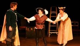 Jon Patrick O'Brien, Julane Havens & Hallie Dizdarevic in Twelfth Night. Photo-Kelly Moore.