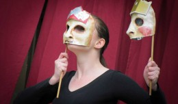 Megan Massie in 2-actor Hamlet. Photo courtesy of Kentucky Shakespeare.