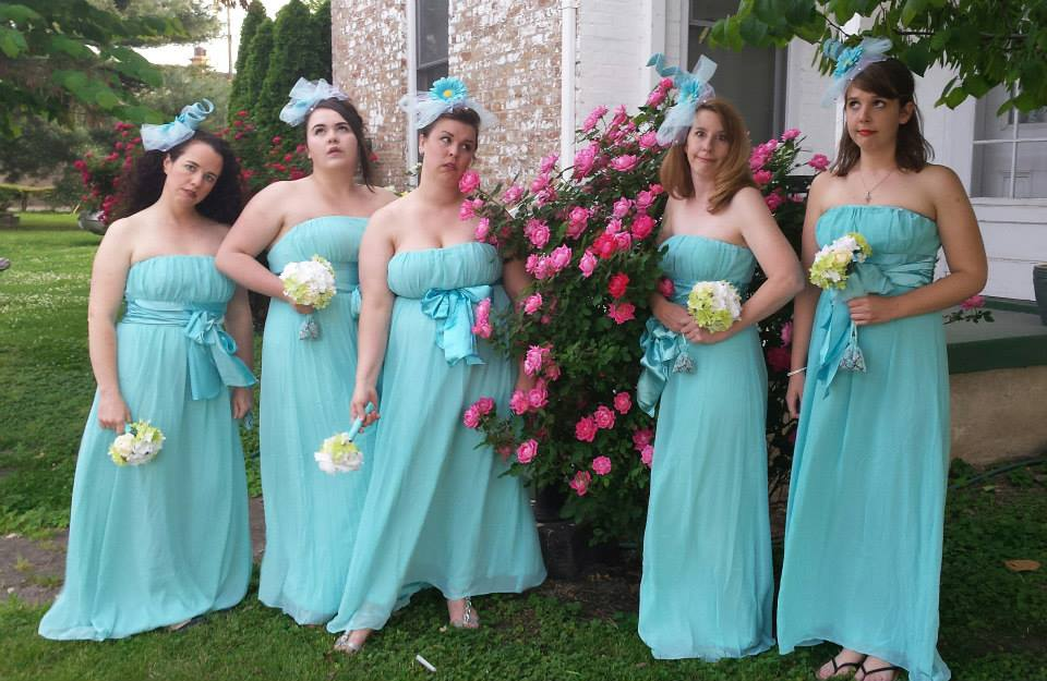 Sustained Hilarity In Blue Chiffon