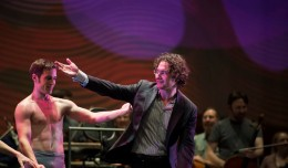 Company Dancers Ryan Stokes and The Louisville Orchestra Music Director Teddy Abrams
