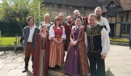 Matt Wallace (front) joined in the Bard's 400th Anniversary festivities at Stratford-upon-Avon