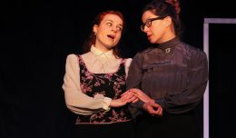 A Dolls House 3 - Polina Shafran as Nora; Beth Tantanella as Mrs. Linde; photo by Jasmine Jones